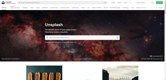 Unsplash Stock Photo Search Tool