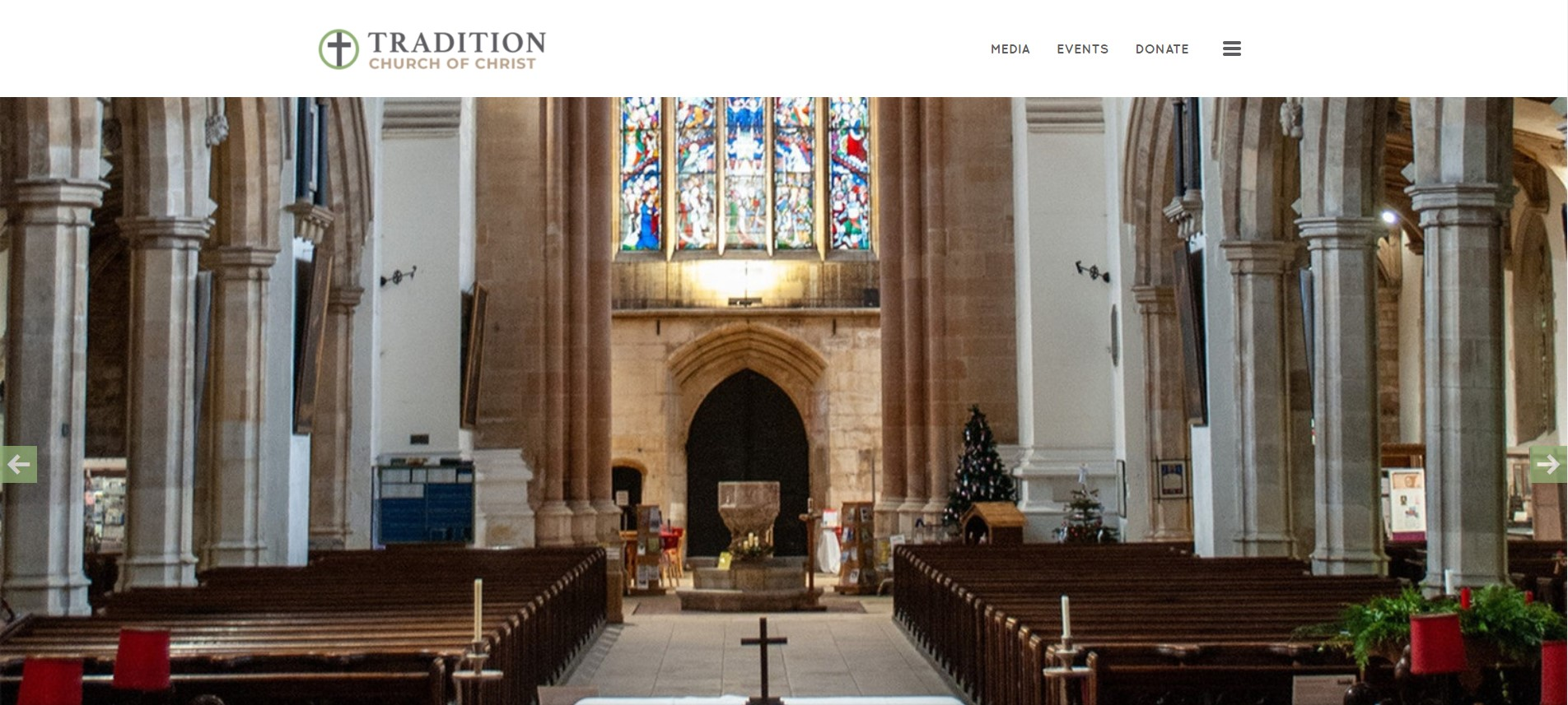 Introducing the new church website theme from CloverSites: Tradition!